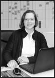Frau Hilgert, Büroleitung HZ und FW